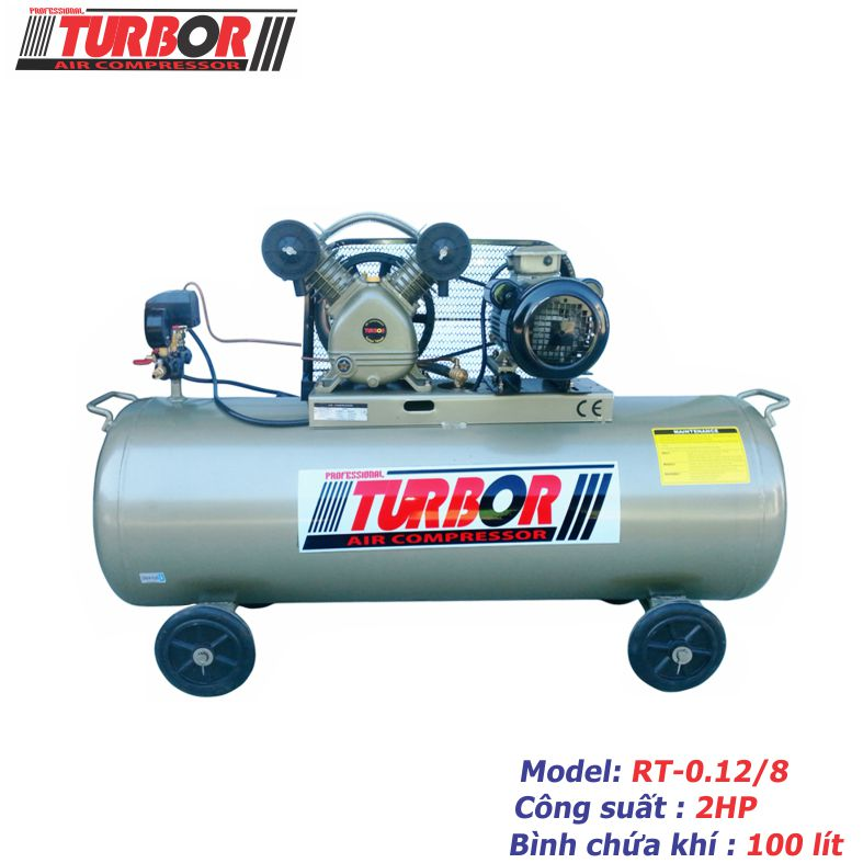 Máy nén khí 1 cấp nén 2HP-100 lít.