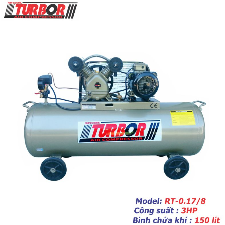 Máy nén khí 1 cấp nén 3HP-150 lít.