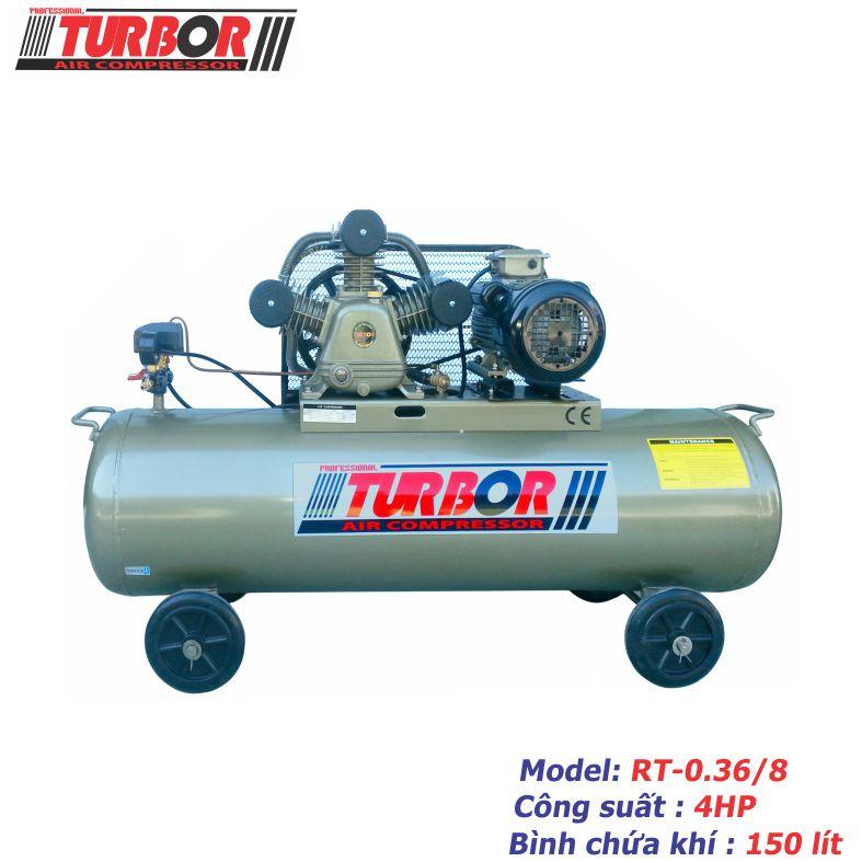 Máy nén khí 1 cấp nén 4HP-150 lít.