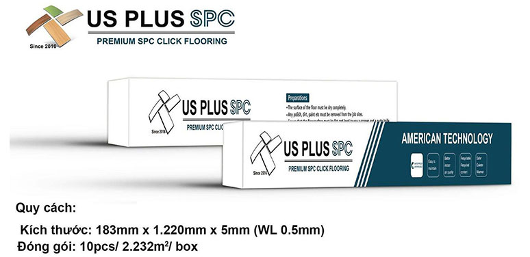 Sàn nhựa Us Plus SPC