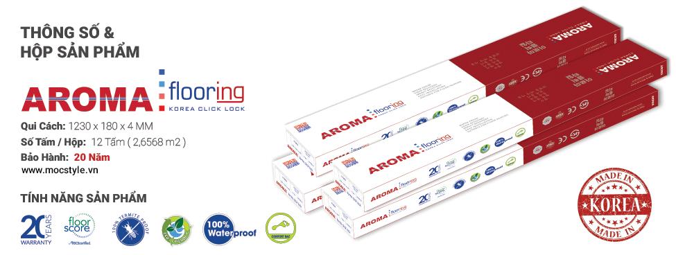 Sàn nhựa Aroma 4mm