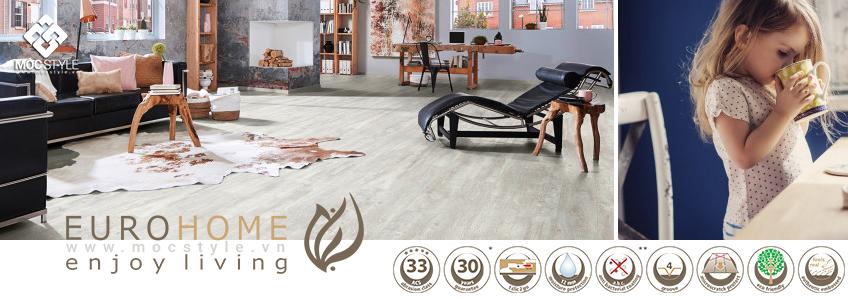 Sàn gỗ Euro-Home 12mm - Sản xuất tại Đức