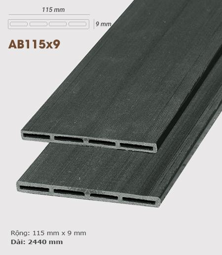 Gỗ nhựa ốp tường AWood AB115x9 Dark Grey
