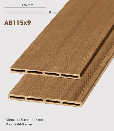 Gỗ nhựa ốp tường AWood AB115x9 Wood