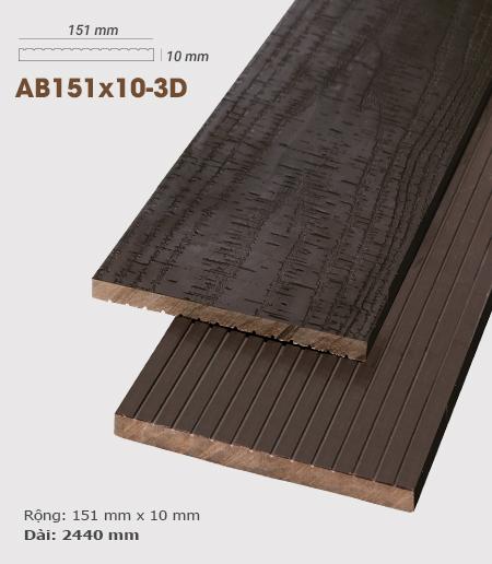 Gỗ nhựa ốp tường AWood AB151x10 3D Socola