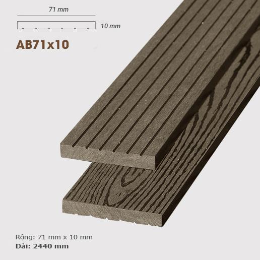 Gỗ nhựa ốp tường AWood AB71x10 Coffee