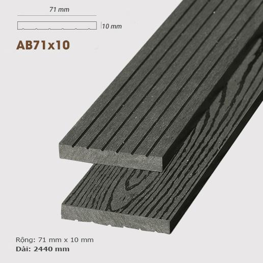 Gỗ nhựa ốp tường AWood AB71x10 Dark Grey