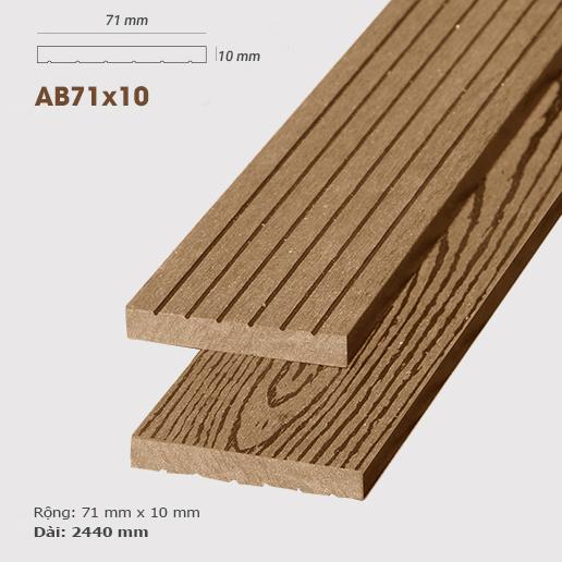 Gỗ nhựa ốp tường AWood AB71x10 Wood