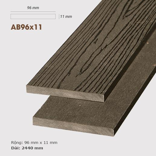 Gỗ nhựa ốp tường AWood AB96x11 Coffee