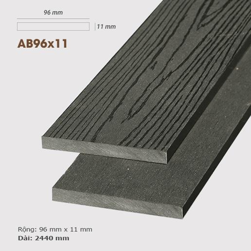 Gỗ nhựa ốp tường AWood AB96x11 Dark Grey