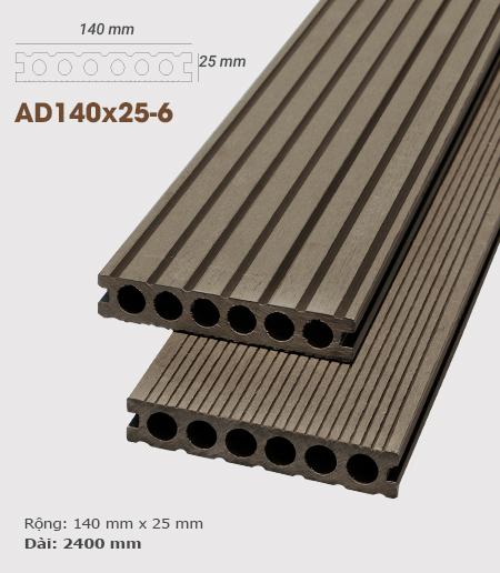 Sàn gỗ nhựa ngoài trời AWood AD140x25-6 Coffee