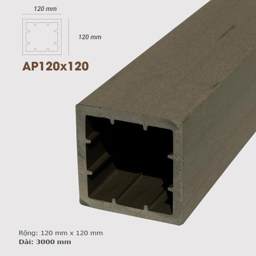 Cột gỗ AWood AP120x120 Coffee