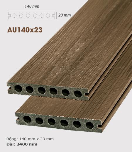 Sàn gỗ nhựa ngoài trời AWood AU140x23 Teak B