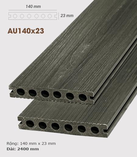 Sàn gỗ nhựa ngoài trời AWood AU140x23 Teak G