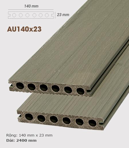 Sàn gỗ nhựa ngoài trời AWood AU140x23 Teak M