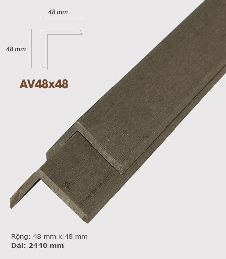Nẹp V nhựa  AWood AV48x48 Coffee