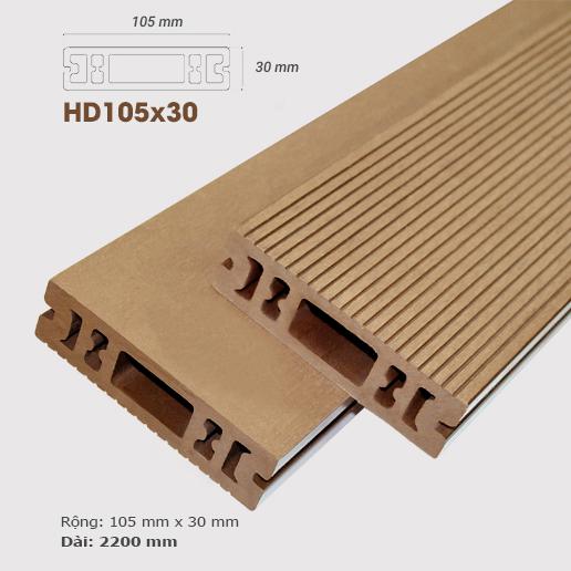 Sàn gỗ nhựa ngoài trời AWood HD105x30 Wood