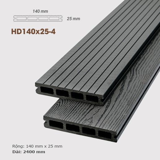 Sàn gỗ nhựa ngoài trời AWood HD140x25 - Dark Grey