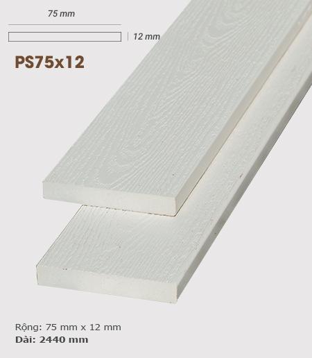 Gỗ nhựa ốp tường AWood PS75x12 White