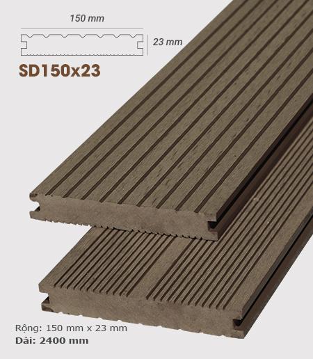 Sàn gỗ nhựa ngoài trời AWood SD150x23 Coffee