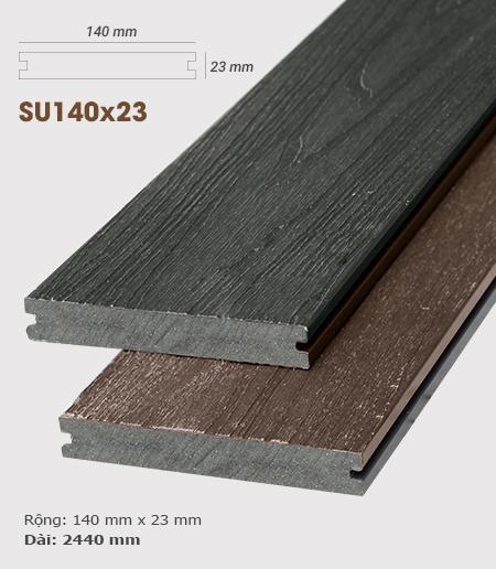 Sàn gỗ nhựa ngoài trời AWood SU140x23 Charcoal