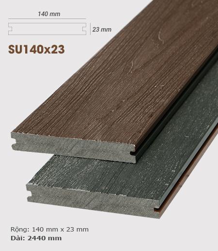 Sàn gỗ nhựa ngoài trời AWood SU140x23 Sandalwood