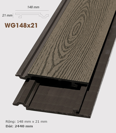Ốp tường gỗ AWood WG148x21 Coffee
