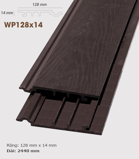 Ốp tường AWood WP128x14 3D Socola