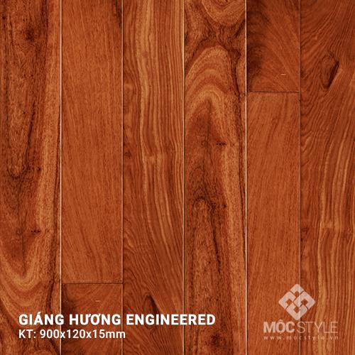 Sàn gỗ kỹ thuật Giáng Hương 15x120x900