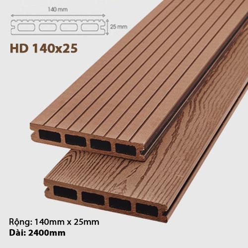 Sàn gỗ ngoài trời AWood HD140x25 - Brown