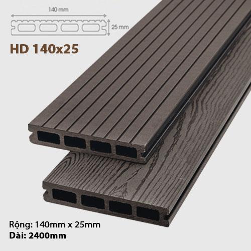 Sàn gỗ ngoài trời AWood HD140x25 - Socola