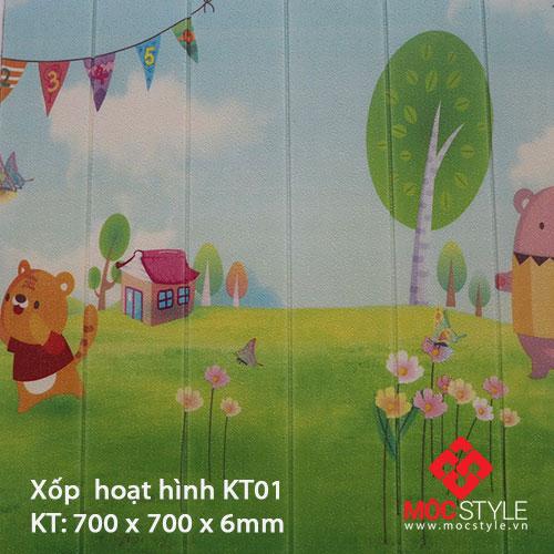 Xốp dán tường hoạt hình KT01
