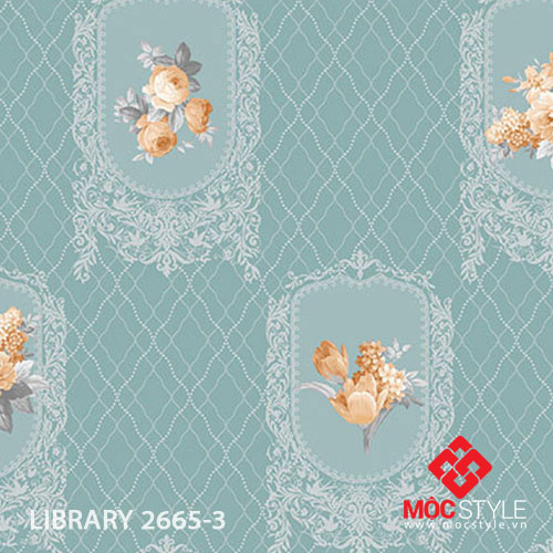 Giấy dán tường Library 2665-3