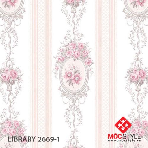Giấy dán tường Library 2669-1