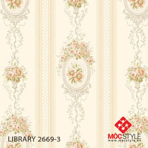 Giấy dán tường Library 2669-3