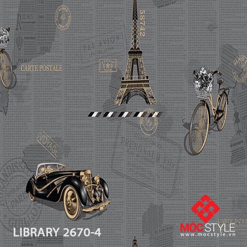 Giấy dán tường Library 2670-4