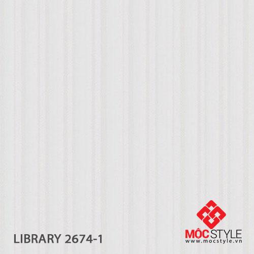 Giấy dán tường Library 2674-1