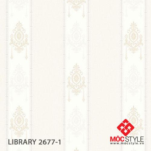 Giấy dán tường Library 2677-1