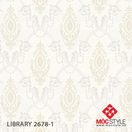 Giấy dán tường Library 2678-1