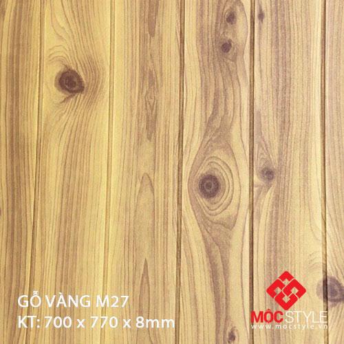 Xốp dán tường gỗ vàng M27