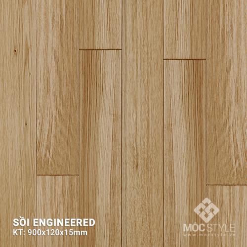 Sàn gỗ kỹ thuật Sồi 15x120x900