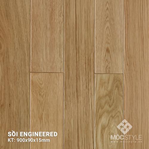 Sàn gỗ kỹ thuật Sồi 15x90x900