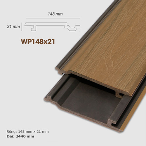 Ốp tường gỗ UltrAwood WP148x21 - màu Pomelo Yellow