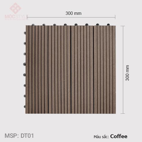 Vỉ gỗ nhựa lót sàn AWood DT01 Coffee