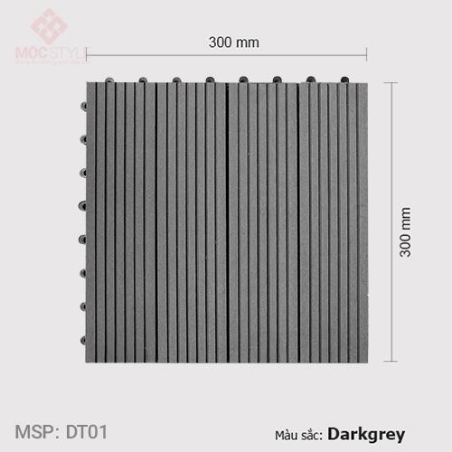 Vỉ gỗ nhựa lót sàn AWood DT01 Dark Grey