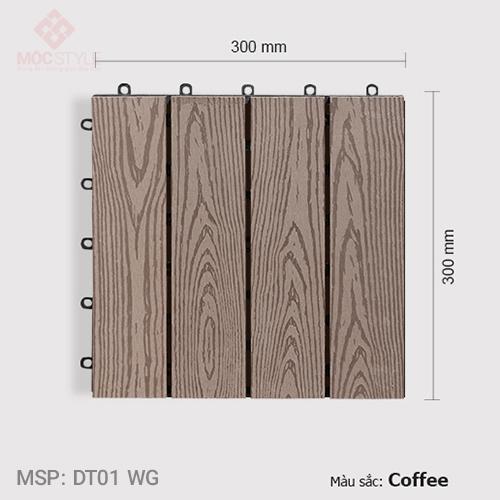 Vỉ gỗ nhựa lót sàn AWood DT01 WG Coffee