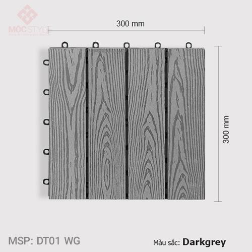 Vỉ gỗ nhựa lót sàn AWood DT01 WG Dark Grey
