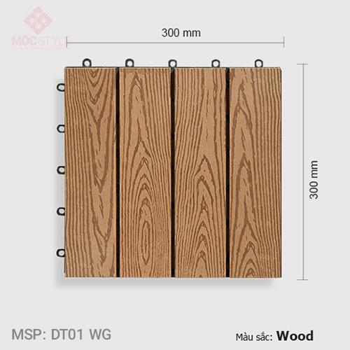 Vỉ gỗ nhựa lót sàn AWood DT01 WG Wood