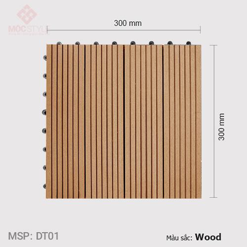Vỉ gỗ nhựa lót sàn AWood DT01 Wood