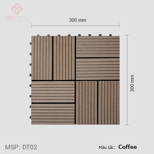 Vỉ gỗ nhựa lót sàn AWood DT02 Coffee
